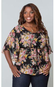 http://www.curvety.com/kiyonna-chantal-chiffon-blouse-in-black-rose-print-p576