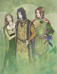 Margaery The Queen and Wife, Renly The King, Ser Loras The Lord Commander and Lover...basically Renly's got himself a nice Tyrell family sandwich goin' on. ;)