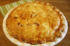 Chicken and Leek Pie. Melt in the mouth double crust pastry pie filled with chicken, leeks and bacon in a simple creamy sauce. Mary Berry Chicken Pie, Chicken And Mushroom Pie, Pie Recipes, Cooking Recipes, Chicken Recipes, Chicken Ideas, Savoury Recipes, Lunch Recipes, Yummy Recipes