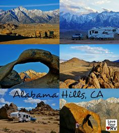 I've driven Highway 395 through the little town of Lone Pine, California several times and was totally unaware of the Alabama Hills and the unique landscape hiding just to the west of town. It wasn't until I read about it on a few other blogs that I was clued into this gorgeous boondocking opportunity.  http://www.loveyourrv.com/boondocking-alabama-hills-blm/ #RV #Boondocking #California
