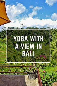 Yoga in Ubud, Bali: If you're looking to take in the scenery and enjoy a breathtaking view overlooking the rice fields while doing yoga in Bali, than look no further and check out our article covering the best yoga studio in Ubud. This studio offers all kinds of yoga classes from hatha to vinyasa flow and so much more as well as yoga teacher training courses and Ubud yoga retreats. Plus, find out which yoga travel gear we wish brought with us to Bali!