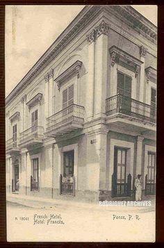 Hotel Francés,Ponce,Puerto Rico,años 30.