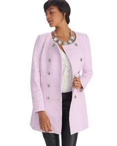 White House | Black Market Limited Edition Pink Topper Coat #whbm Finally it is mine thank you customer service and Texas!