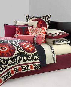Bedding at Macys and Bed Bath and Beyond- - LOVE this.  something my husband could get on board with too!