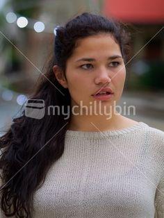 Portrait of a young Maori woman Girl Portraits, Maori Art, Kiwi, New Zealand, Woman, Image, Women