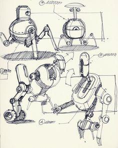 Sketch-A-Day 82: Robo Scribbles | February 19, 2010