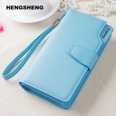 Fashion Brand Leather wallet female purses wristlet Red women wallets girls clutch women's long big capacity Zipper Coin purse