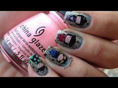 Cute Kokeshi nails