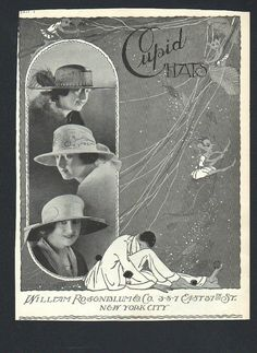 Original Vogue magazine art deco advertisement for Cupid Hats NY - Test 81