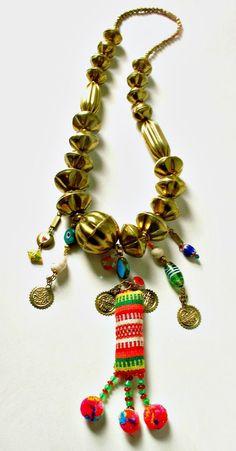 Princesa Frida Large Tribal Ethnic Chunky Brass by MicciCohanNYC