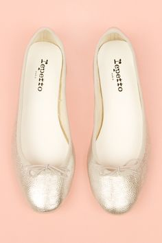 Want Sliver Repetto flats