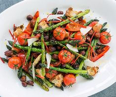 This asparagus salad is bursting with flavour from the addition of chorizo sausage and chilli.