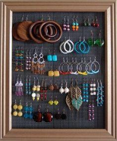 wall-mounted jewelry organizer by cassandra