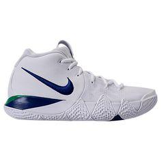 NIKE MEN'S KYRIE 4 BASKETBALL SHOES, WHITE. #nike #shoes # Nike Kyrie, Basketball Shoes, Sneakers Nike, Nike Shoes, Nike Men, Mens Fashion, Boys, Style, Nike Tennis