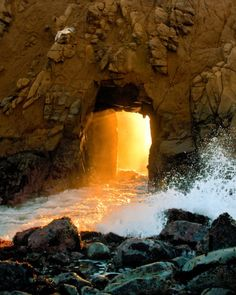 Located in Pfeiffer Beach, Big Sur, CA. Used to love to drive here when I lived in Pacific Grove.
