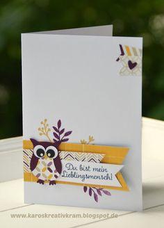 Karos Kreativkram: Für Lieblingsmenschen - mit Eulenstanze / Owl punch