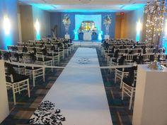 Holiday Inn Disney wedding ceremony. Hand painted aisle runner Www.artisticaislerunners.com 407 687 5176