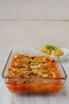 Fenchel mit würziger Tomatensoße aus dem Ofen
