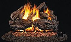 Real Fyre Charred Red Oak Log Sets - never undersold. If you find a better price email us their quote and we'll likely beat it.Like an artist who can bring the beauty of nature to life, Real-Fyre artisans work from real wood sample Gas Fire Logs, Wood Burning Fires, Gas Fires, Gas Log Burner, Fireplace Vent, Gas Fireplaces, Fireplace Ideas, Oak Logs, Charred Wood