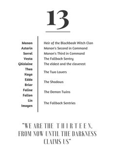 I love the thirteen!!!