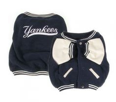 Sophie & Bruno need one!! Sporty K9 New York Yankees Varsity Dog Jacket