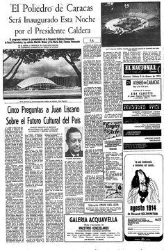 Inauguración del Poliedro de Caracas. Publicado el 02 de marzo de 1974