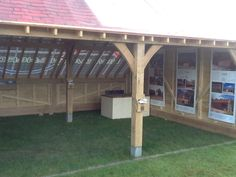 Oakwrights Country Buildings exhibition stand at The Royal Berkshire Show