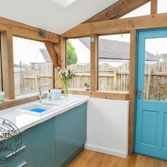 glazing in a contemporary oak extension