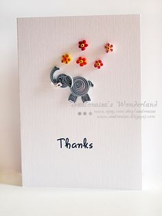 Quilled handmade cards - Szalonaisa's Wonderland: Quilled Thanks Card