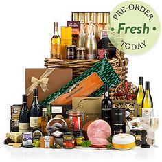 Our luxury Christmas Hampers are the perfect festive gift for family, friends, colleagues and clients. Traditional Hampers, Christmas 2014, Christmas Gifts, Wicker Hamper, Food Hampers, Christmas Hamper, Food Festival, Food Gifts, Gifts For Family