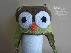 tutorial gorro buho orejeras gratis crochet