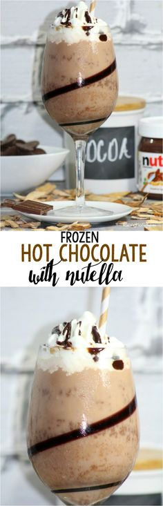 Frozen Hot Chocolate with Nutella