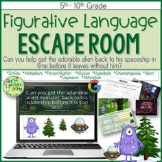 Escape Room, Figurative Language, Digital Breakout