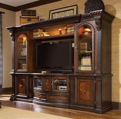 Tv entertainment wall ideas entertainment wall units wall unit entertainment center units for living room design Black Entertainment Centers, Entertainment Center Wall Unit, Entertainment Room, Wall Unit Decor, Room Decor, Media Wall Unit, Fairmont Designs, Poster Design, Furniture Design