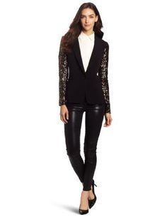 DKNYC Women's Long Sleeve Jacket with Sequin Sleeves DKNYC. $107.99. Dry Clean Only. 68% Polyester/28% Viscose Rayon 4% Elastane/spand. Made in China. Can be dressed up or hip when worn casually with jeans.. Sleeve detail is a hot trend for Fall.