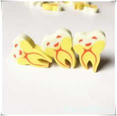 100pcs Creative Teeth type Gift pencil eraser Dental Clinic dentist kids gift #Haodental
