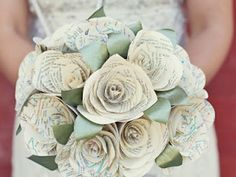 Paper Flowers ~ Wedding Bouquets