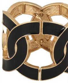 Black and gold bangle
