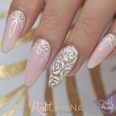 From general topics to more of what you would expect to find here, nail-art-stickers. Elegant Nail Art, Beautiful Nail Art, Gorgeous Nails, Pretty Nails, Nail Art Rhinestones, Rhinestone Nails, 3d Nails, Pink Nails, Pastel Nails