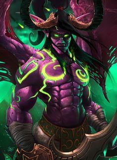 This week's Fan Art Friday spotlight is on Illidan Stormrage from Blizzard Entertainment's World of Warcraft. Art Warcraft, World Of Warcraft 3, Warcraft Legion, Dota Tattoo, Angel Y Diablo, Illidan Stormrage, Science Fiction, Night Elf, Heroes Of The Storm