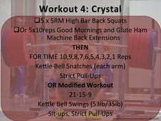 "Monday and Tuesday's Workout performed at Crossfit Albuquerque. First workout done on Monday and the second one on Tuesday (modified version). Enjoy! ***Remember, I""m not a personal trainer and I'm supervised by a Crossfit Coach"