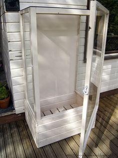 Ihan oikea blogi?: Vanhoista ikkunoista tehty kasvihuone
