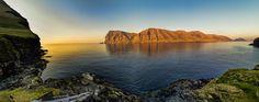 Picture of Kunoy taken from Kalsoy in Faroe Islands by Pauli Djurholm