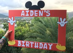 Mickey Mouse photo prop, MICKEY mouse first birthday by MLynn Events www.mlynnevents.com