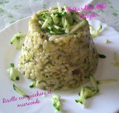 Risotto con zucchine al microonde