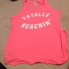 Brand new long pink tank Totally cute! Brand new PINK Victoria's Secret Tops Tank Tops