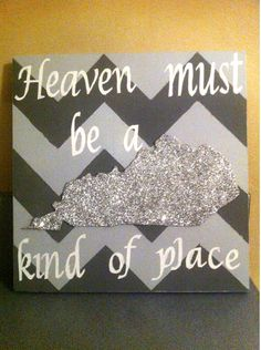 Chevron State Canvas on Etsy, $20.00