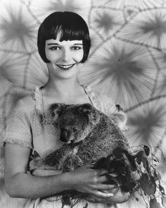 Louise Brooks...and a koala