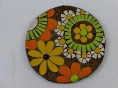 Diy Flowers, Flower Diy, Vintage Crockery, Relaxing Art, Mosaic Crosses, Air Dry Clay, Mosaic Art, Folk Art, Diy And Crafts