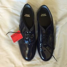 American Apparel Navy Patent Dance Shoe NWT Men's 9 / Women's 11. Brand new with tags. American Apparel Shoes Flats & Loafers